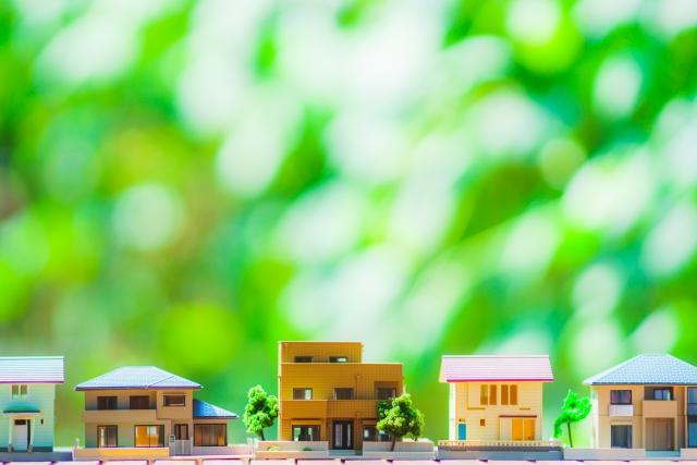 新緑と戸建て